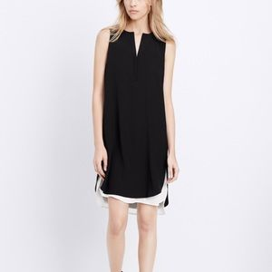Vince two layer black and white dress